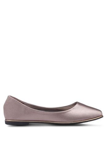 Mimosa pink and gold Classic Pointy Ballerina Flats 74682SH8FC77D7GS_1