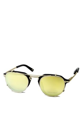 HEX EYEWEAR black and gold Businessman - John M. - Optical with Clip-on - Italy Design HE671AC2V1LBHK_1