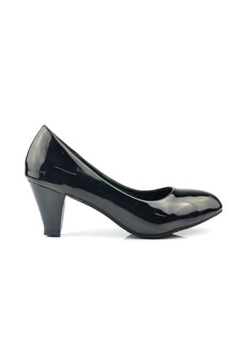 SHINE black Classic Grossy Court Heels SH554SH80FWPSG_1