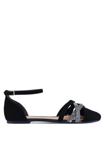 Anacapri 黑色 Tela Tory 平底鞋 E52DASH93C0AD5GS_1