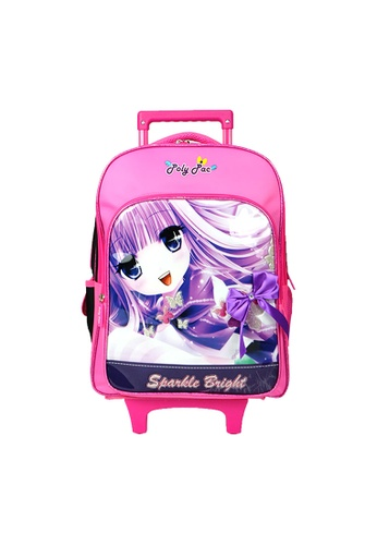 Poly-Pac black and pink Poly-Pac PS2036R 16 inch Trolley School Bag 220EAKCEA200DAGS_1