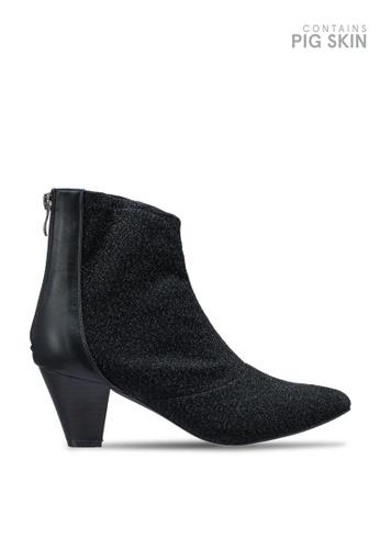 VANESSA WU black Zion Heeled Boots 3D6B5SH3A33B86GS_1