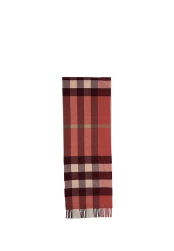 BURBERRY red and multi BURBERRY Scarf 341C7AC73CCC29GS_1