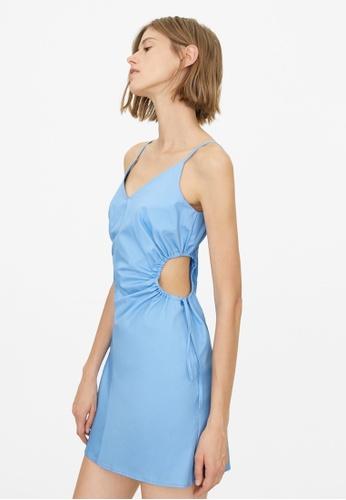 Pomelo blue Side Cut Out Dress - Blue F0FE9AA5A6C4A8GS_1