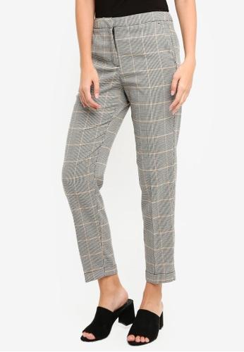 Vero Moda grey and multi Laja Selma Cigarette Pants 1566CAAF78EA9FGS_1