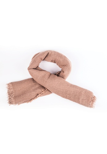 Drum Casual Scarf- brown DR425AC0S351MY_1