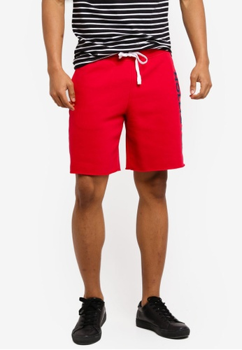 Hollister red Tech Logo Classic Shorts 92F24AAC76D4D2GS_1