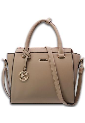 RUCINI beige Rucini Rochelle Satchel Handbag 33C98ACC67C83AGS_1