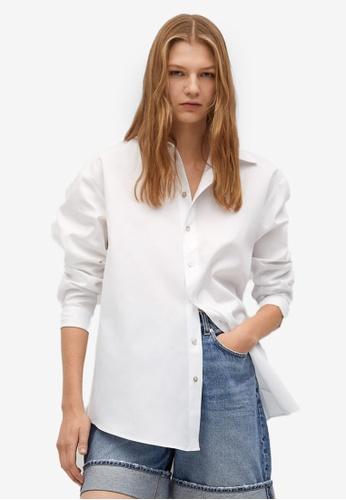 Mango white 100% Cotton Shirt 38E6DAADD9FC24GS_1