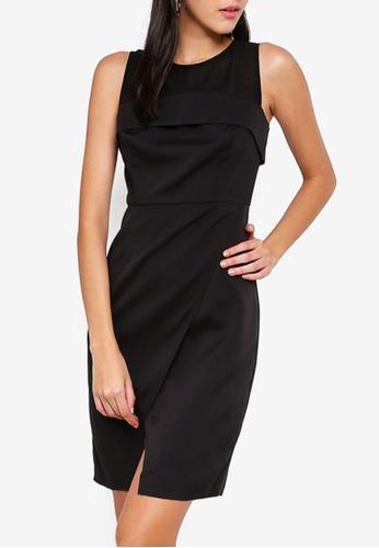 ZALORA black Foldover Dress A14C4AA9E88CBFGS_1