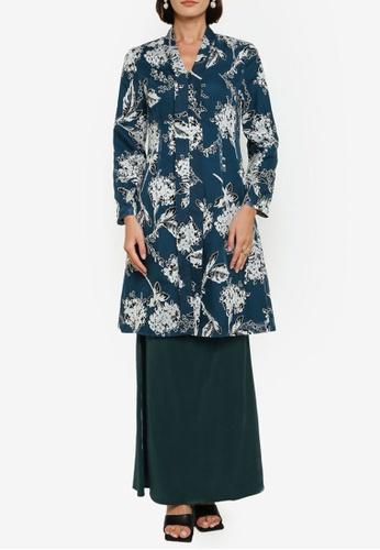 Zalia green Kebaya Labuh With Mermaid Skirt Set 870B3AA10820DCGS_1