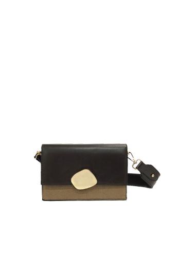 GreyPlus brown Zira Crossbody Sling Bag 0B2DDAC5C38061GS_1