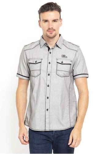 LGS grey LGS - Slim Fit - Kemeja Fashion - Double Pocket - Abu 1F780AAC362E28GS_1