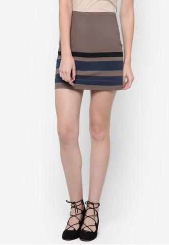 Caesprit地址rlo 條紋迷你短裙, 服飾, 裙子
