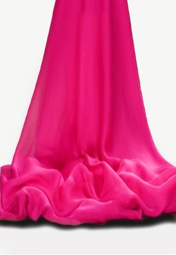 Shine Pink Shawl Hot Color Silk Scarf Sh554ac50uqrsg 1