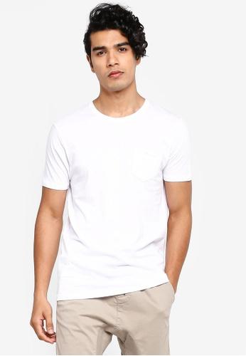 Brave Soul 白色 口袋T恤 C0959AAE3C85FCGS_1