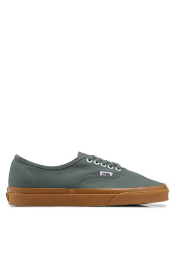 VANS green Authentic Sneakers VA142SH0SWSVMY_1