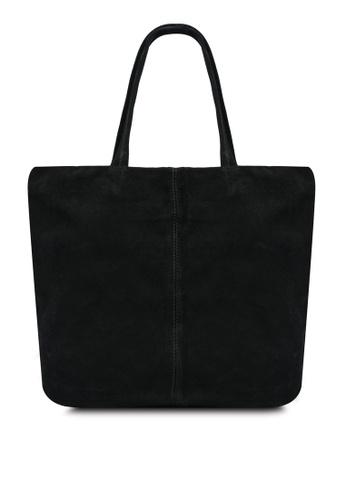 Mango black Leather Shopper Bag C56B5AC3C39238GS_1