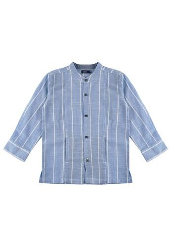 KIDS ICON blue KIDS ICON - Kemeja Lengan Panjang Anak Laki-laki DYL 03-36 Bulan With Stripes Detail - DYKL1400200 6D266KAC31D6ECGS_1
