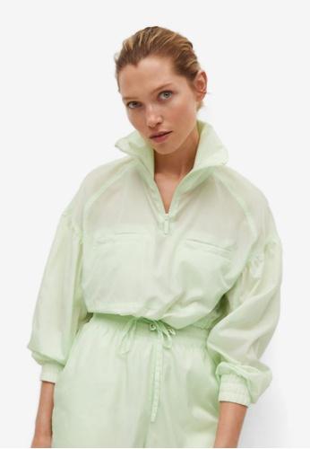 Mango green Sporty Crop Sweatshirt 2C2D9AA2EC19E7GS_1
