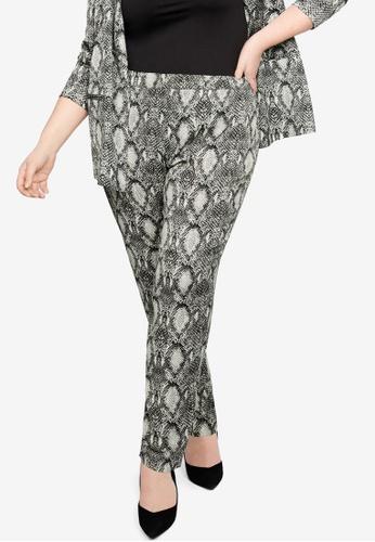 969a5db9ee15 Buy Violeta by MANGO Plus Size Snake Print Trousers Online on ZALORA ...