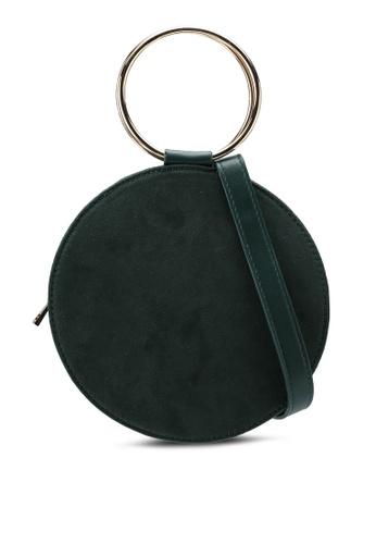 Miss Selfridge green Metal Round Cross Body Bag 0F5C6AC1A7ECF2GS_1