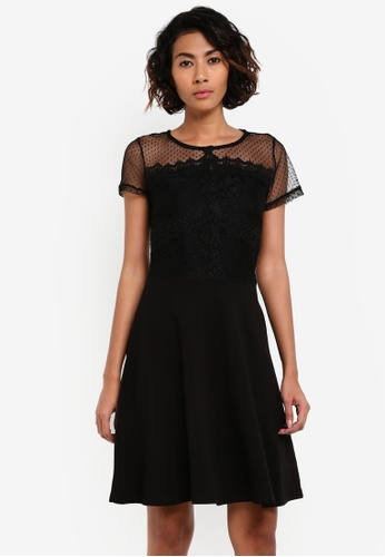 Dorothy Perkins black Lace Mesh Mix Dress DO816AA0RV3PMY_1