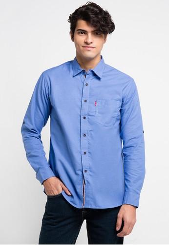 CARVIL blue Kemeja Man Pjg Felipo-Blu CA566AA0URGVID_1