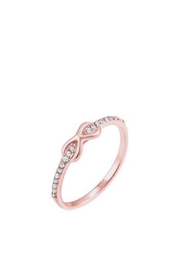 2d776a79b Elli Germany pink Elli Germany Engagement Ring Infinity Love Classic Bond Swarovski  Crystals 925 Silver Rose