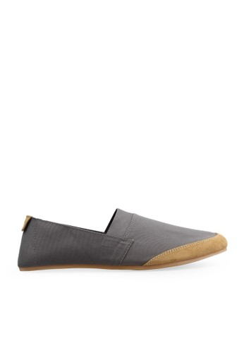 Minarno grey Gray Canvas Slip-On NB05 MI641SH45GUCID_1