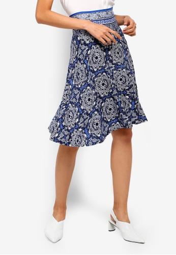 Max Studio navy Knit Short Skirt F024DAA1CD95D8GS_1