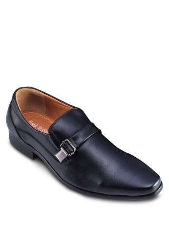 暗紋拼esprit taiwan接繫帶皮鞋, 鞋, 鞋