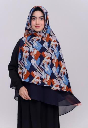 First Hijab blue Naida Khimar Instan In Navy 349CEAAB222137GS_1