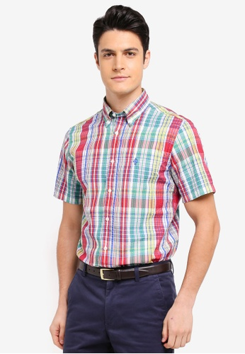 Brooks Brothers multi Red Fleece Seersucker Multi Plaid Shirt EC9E8AAD9C045DGS_1