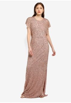 bfccde6b88 Angeleye pink Rose Gold Dress DB31CAA8D00396GS 1