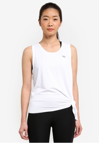 Running Bare white Tie Side Workout Tank A2C56AA17A52BDGS_1