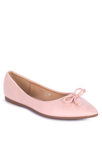 S&H pink Palmiro Flats F0B5DSH8F65EA9GS_1