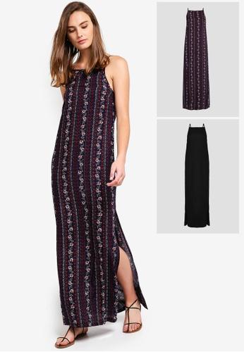 f6814814331379 Shop ZALORA BASICS 2 pack Basic Square Neck Cami Dress Online on ZALORA  Philippines