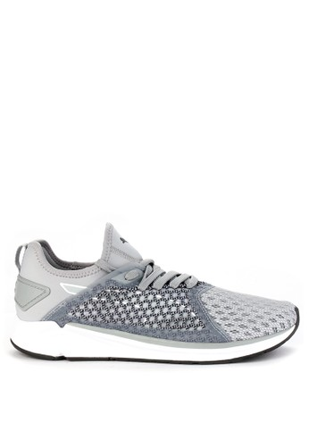 Puma grey Ignite 4 Netfit Shoes 90BB6SH636F44FGS_1