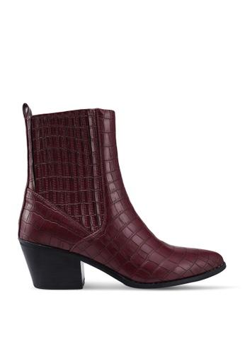 Vero Moda red Toa Boots 14C6ASH5E3EFB3GS_1