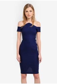 Image of Dalston Bardot Pencil Dress