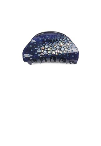 Glamorousky blue Fashion and Simple Dark Blue Geometric Hair Claw with Cubic Zirconia 4883DAC5A58612GS_1