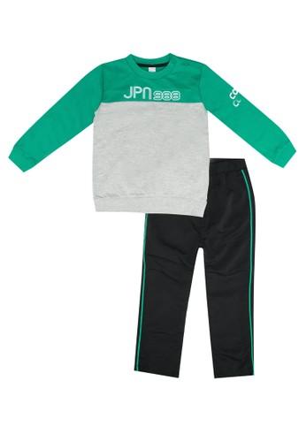 LC Waikiki grey Baby Boy's 2-pack Sweatshirt and Sweatpants 40F09KA4DAF2A5GS_1