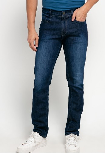 Jimmy Martin blue Basic Slim Stretch Denim Pants BD949AA8D162D3GS_1