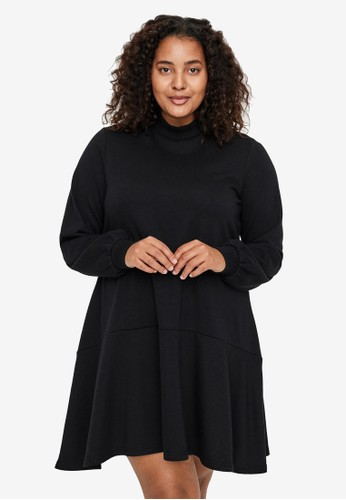 Vero Moda black Plus Size Bistad Tunic 1BD51AAE837BB5GS_1