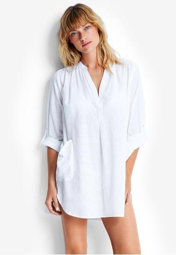 Seafolly white Boyfriend Beach Shirt SE198AA0RBG7MY_1
