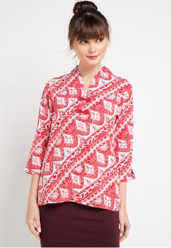 Bateeq red and multi Cardigan Cotton Print 2C4FFAA3C31280GS_1