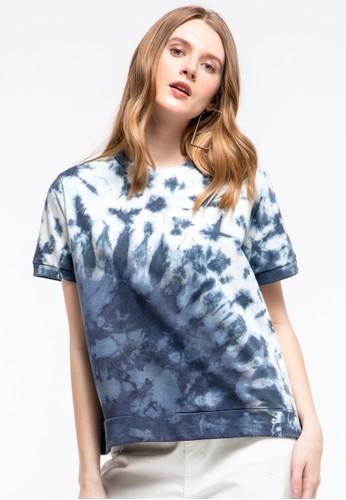 et cetera blue Tie Dye T-shirt 03C6CAA05B4411GS_1