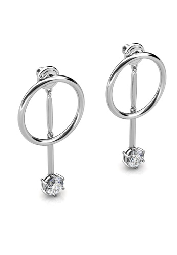 Her Jewellery silver Hazel Drop Earrings -  Embellished with Crystals from Swarovski® 07907AC94BDD69GS_1