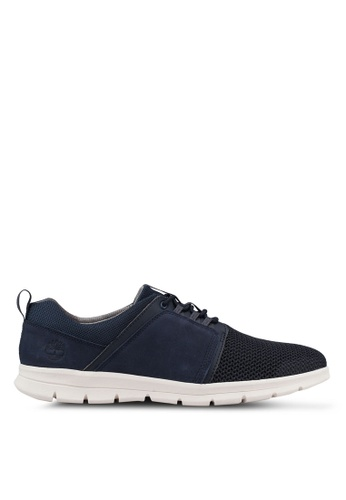 Timberland navy Graydon Fabric and Leather Sneakers 2E4E3SH440BBC5GS_1